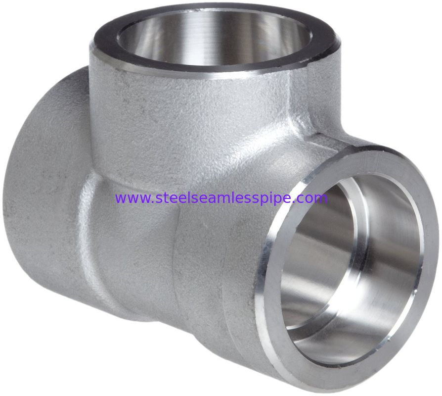 Forged Alloy Steel Fittings , Stainless Steel Equal Tee A-182 / A105,Socketweld & Threaded