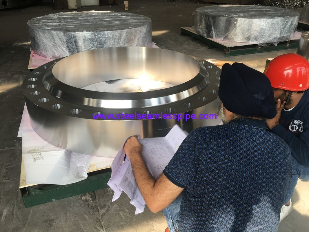 Stainless Steel Flanges ASME SA-182 Gr.F321H, BUG SIZE, FVC Forging,RTJ HB (Nut Stop),For Chemical Industry application